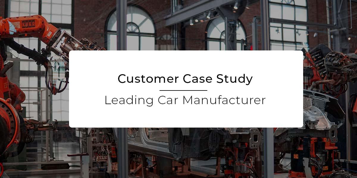 Car manufacturing case study