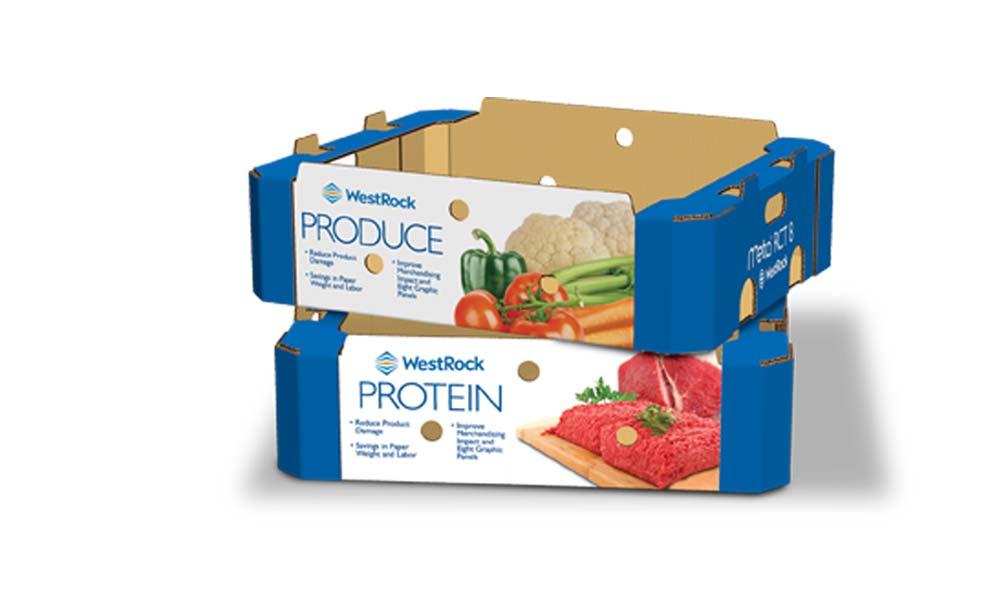 WestRock corrugated food packaging