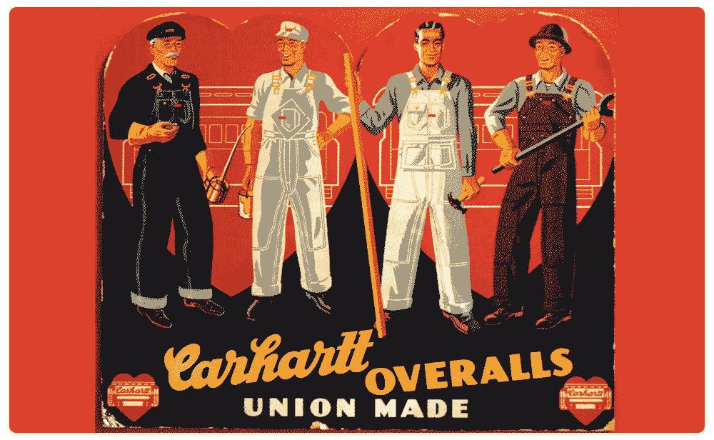 Carhartt overalls Ad